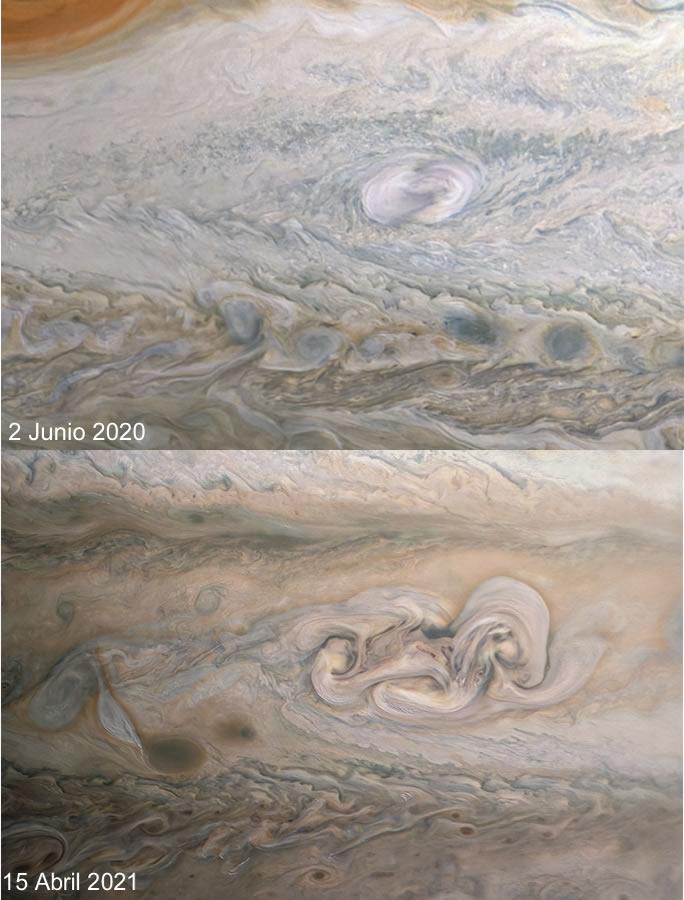 Juno Observa Cambios en la Evolución de la