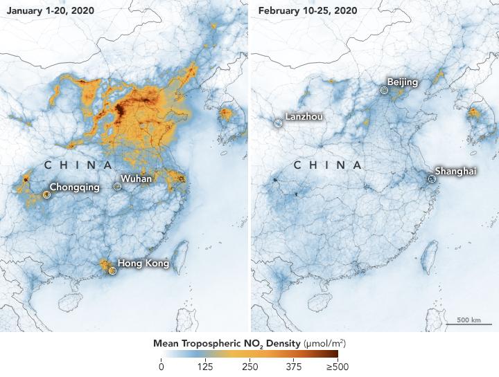 Satélites Confirman la Disminución del Dióxido de Nitrógeno Sobre China