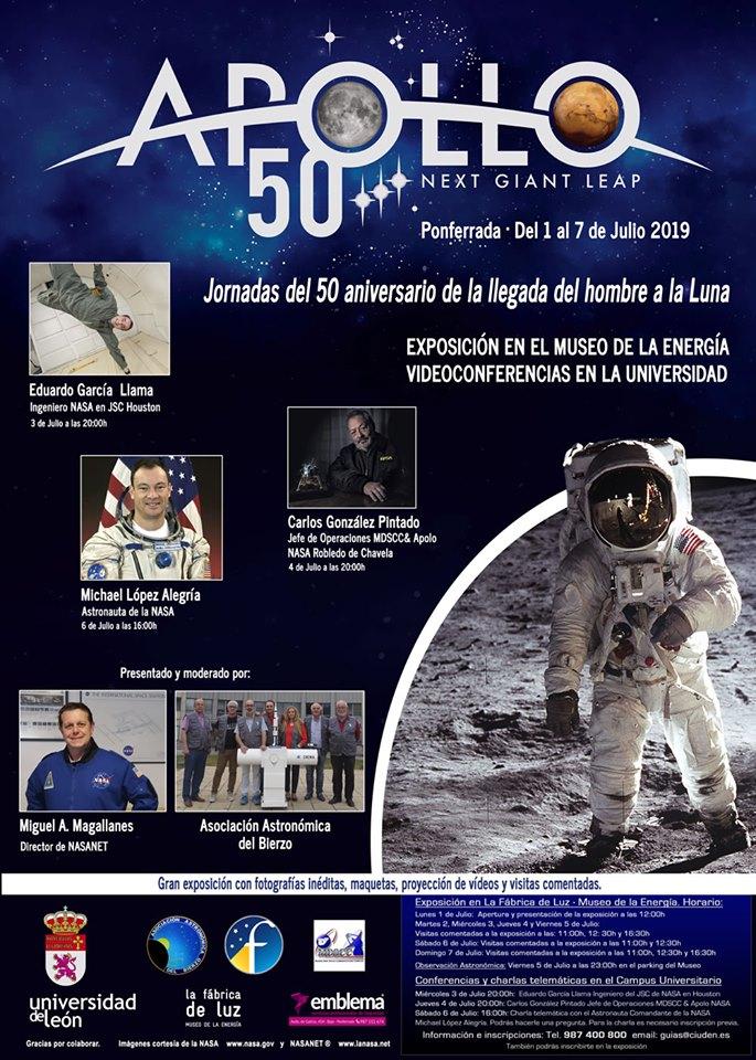Cartel Exposicion y Conferencias NASANET