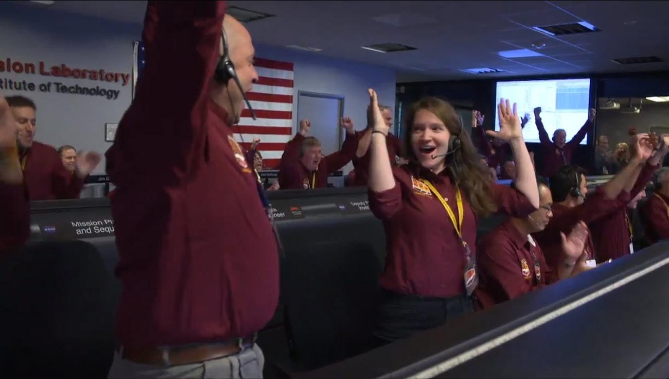 Celebración de la llegada de InSight a Marte