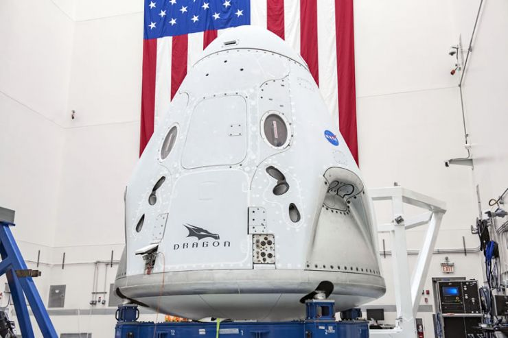 La nave espacial Crew Dragon de SpaceX